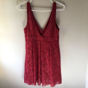 Free People Dresses - Free People Red Lace Dress